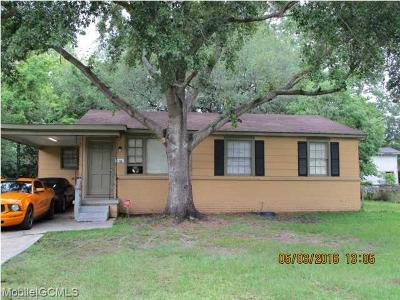Mobile Single Family Home For Sale: 1705 Bream Drive