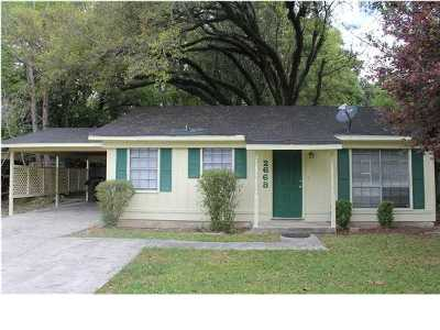 Mobile AL Single Family Home For Sale: $67,000