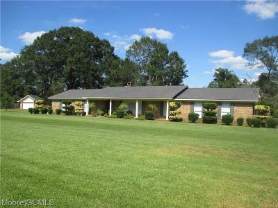 Citronelle Single Family Home For Sale: 19630 Hester Drive