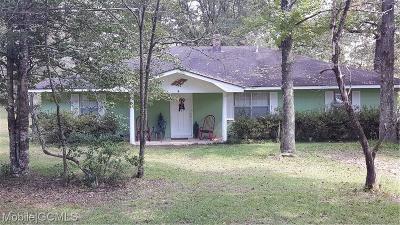 Chunchula Single Family Home For Sale: 15690 Sandy Ridge Road