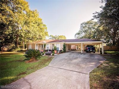 Irvington Single Family Home For Sale: 9925 Irvington-Bayou La Batre Highway