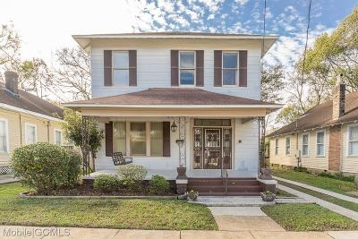 Mobile Single Family Home For Sale: 1315 Chamberlain Avenue