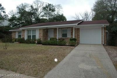 Mobile AL Single Family Home For Sale: $99,900