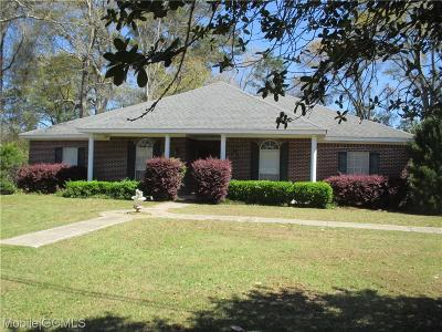 Mobile County Single Family Home For Sale: 19730 Hester Drive