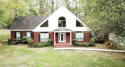 Mobile County Single Family Home For Sale: 12311 Ashton Road