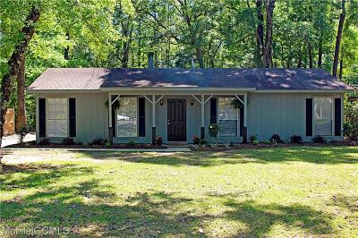 Mobile County Single Family Home For Sale: 3911 Higgins Road