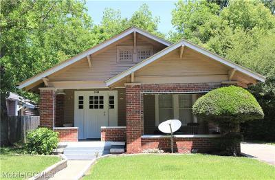 Mobile Single Family Home For Sale: 1704 Laurel Street