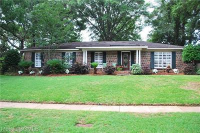 Mobile Single Family Home For Sale: 6125 Coronado Drive SW