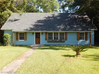 Mobile AL Single Family Home For Sale: $169,900