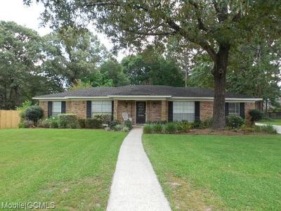 Mobile Single Family Home For Sale: 5765 Duchess Court