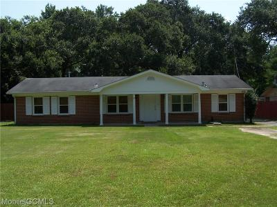 Mobile AL Single Family Home For Sale: $129,900