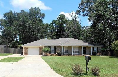 Mobile County Single Family Home For Sale: 9824 Cedar Glen Court