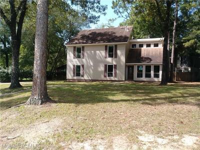 Mobile Single Family Home For Sale: 5621 Erhard Drive