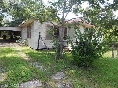 Mobile AL Single Family Home For Sale: $9,000