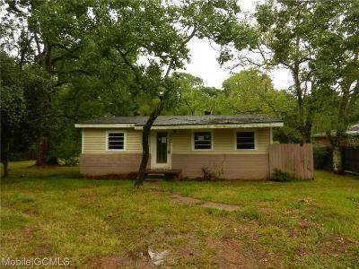 Mobile County Single Family Home For Sale: 3605 Kent Road