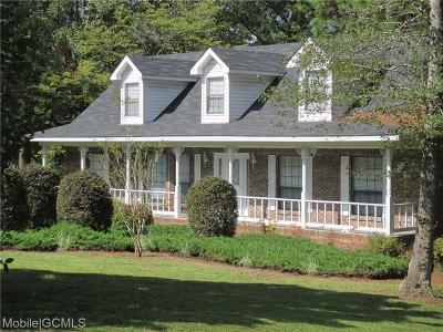 Citronelle Single Family Home For Sale: 18475 Lakeview Drive