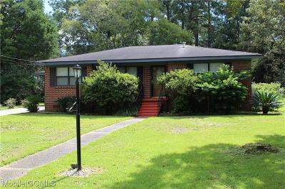 Chickasaw Single Family Home For Sale: 509 Valley Road