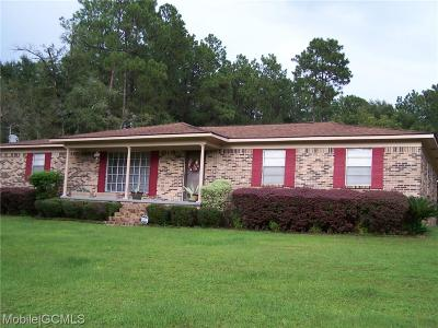 Saraland AL Single Family Home For Sale: $144,900