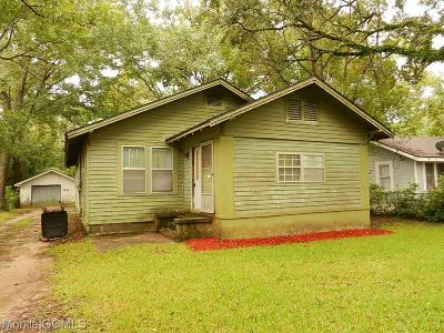 Mobile Single Family Home For Sale: 2609 Pollard Lane