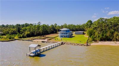 Mobile County Single Family Home For Sale: 15081 Dauphin Island Parkway