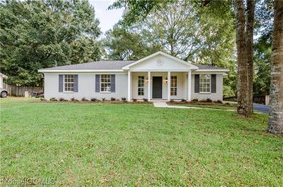 Mobile Single Family Home For Sale: 2875 Ironwood Drive
