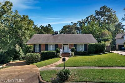 Mobile County Single Family Home For Sale: 4813 Ravine Court