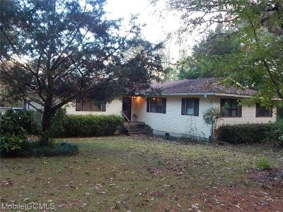 Wilmer AL Single Family Home For Sale: $198,500