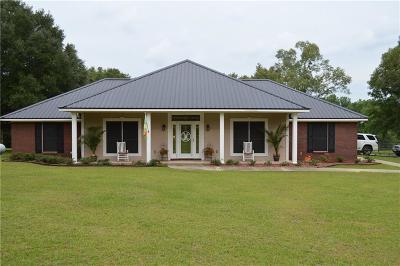 Chunchula Single Family Home For Sale: 3900 Whirlwind Lane