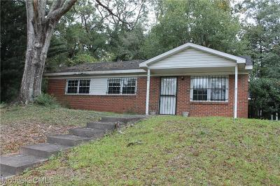 Mobile AL Single Family Home For Sale: $59,900