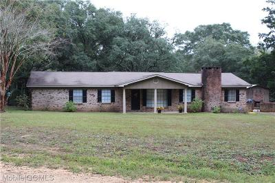 Mobile County Single Family Home For Sale: 6562 Jib Road W