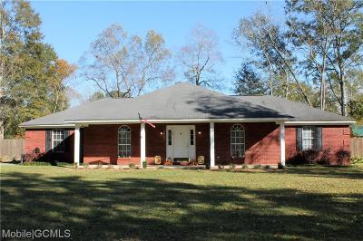 Citronelle Single Family Home For Sale: 18920 6th Street S