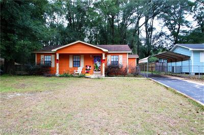 Mobile Single Family Home For Sale: 2801 Valley Forge Drive