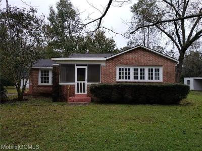 Mobile County Single Family Home For Sale: 1711 Jasper Road