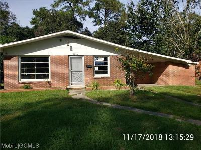 Mobile Single Family Home For Sale: 3056 Pleasant Valley Road