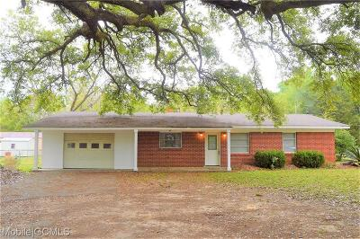 Grand Bay Single Family Home For Sale: 12250 Old Pascagoula Road