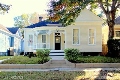Mobile Single Family Home For Sale: 1121 Old Shell Road