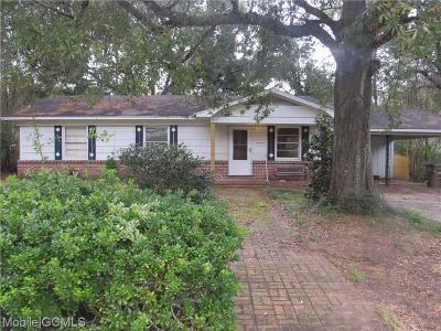 Mobile Single Family Home For Sale: 5604 Diane Court