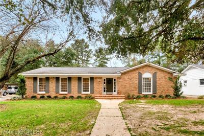 Mobile Single Family Home For Sale: 3663 Claridge Road N