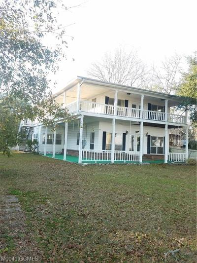 Mobile County Single Family Home For Sale: 4213 Bay Front Road