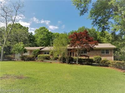 Mobile County Single Family Home For Sale: 4222 Burma Road