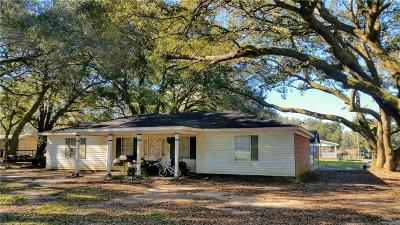 Mobile County Single Family Home For Sale: 8500 Jim McNeil Loop Road W