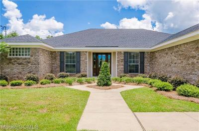 Mobile County Single Family Home For Sale: 13502 Tom Gaston Road