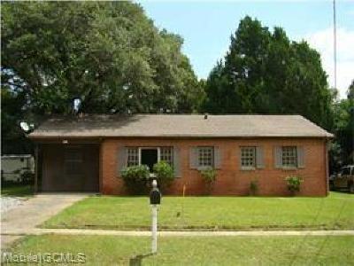 Mobile Single Family Home For Sale: 1613 Burdette Drive