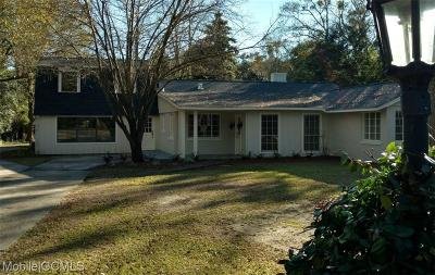 Mobile County Single Family Home For Sale: 2455 Mount Island Drive