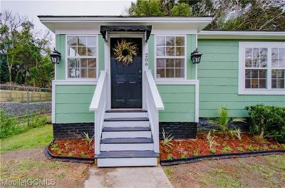 Mobile Single Family Home For Sale: 206 Morgan Avenue
