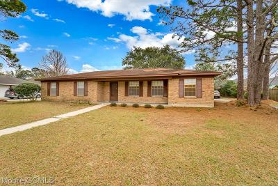 Mobile Single Family Home For Sale: 2809 Del Rio Road W