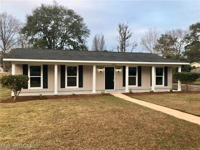 Mobile Single Family Home For Sale: 8016 Middle Ring Road