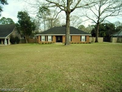 Mobile Single Family Home For Sale: 2911 Schillinger Road S