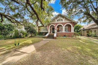 Mobile Single Family Home For Sale: 1811 Springhill Avenue