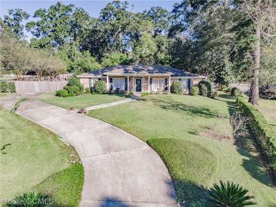 Mobile County Single Family Home For Sale: 3914 Ashley Drive